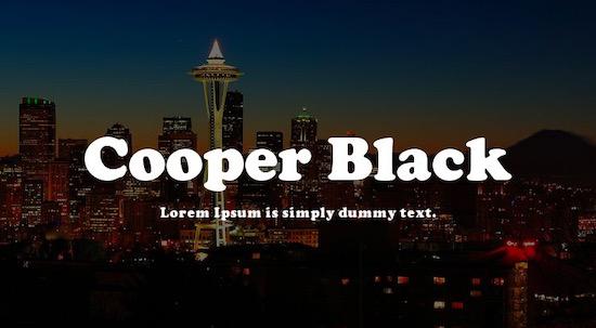 Cooper Black font free