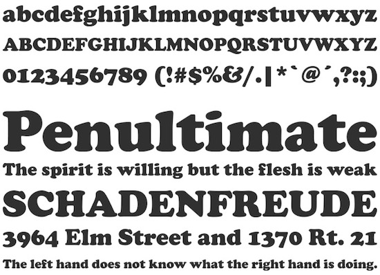 Cooper Black font