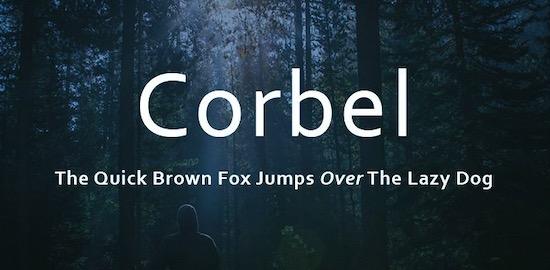 Corbel font free