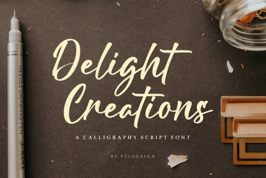 Delight Creations font free download