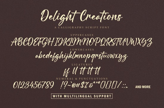 Delight Creations font free