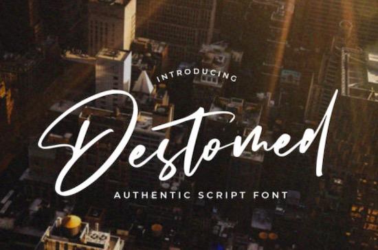 Destomed font free download