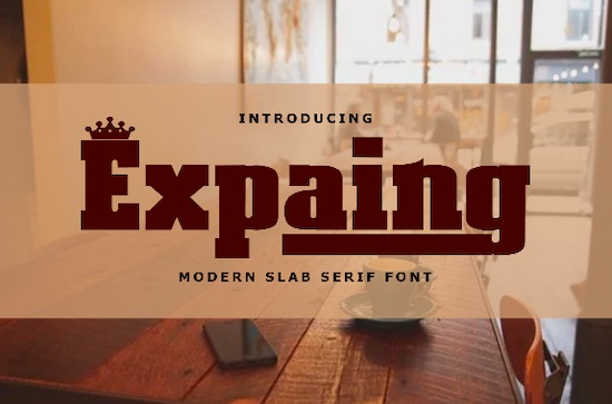 Expaing font free download