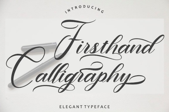 Firsthand Calligraphy font free download