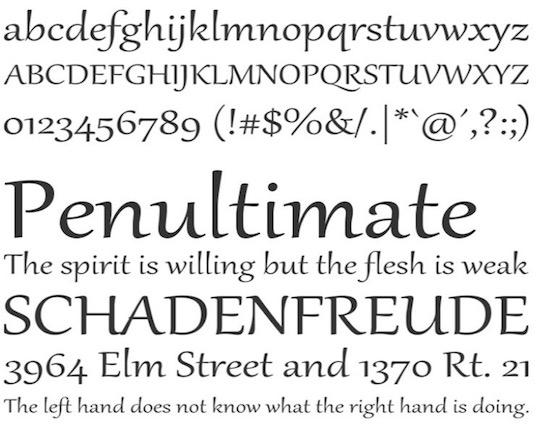 Gabriola font free