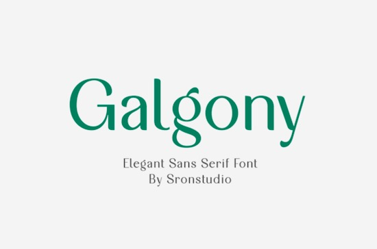 Galgony font free download