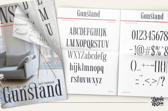 Gunstand font download