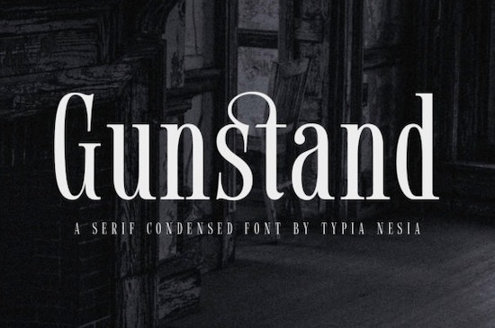 Gunstand font free download