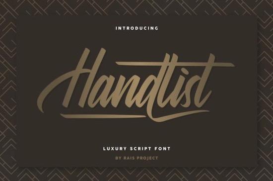 Handlist font free download