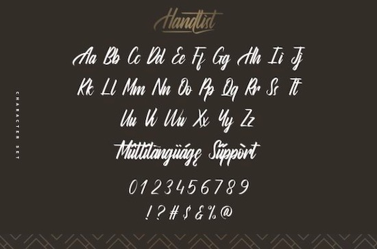 Handlist font free