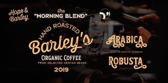Hops and Barleys font free download