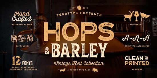Hops and Barleys font