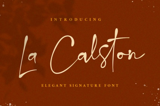 La Calston font free download