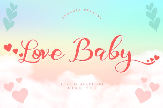 Love Baby font free download