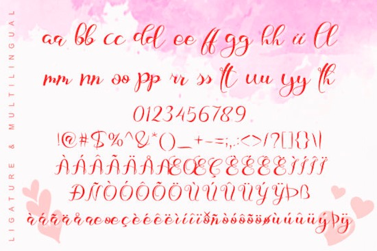 Love Baby font free