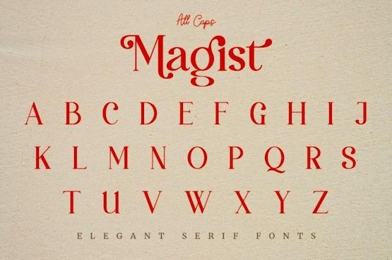 Magist font free