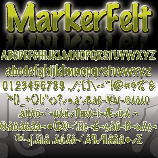 Marker Felt font free
