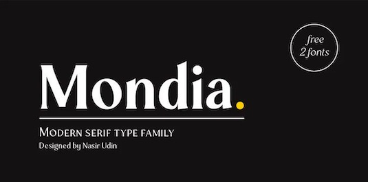 Mondia font download