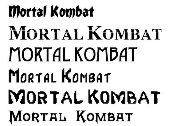 Mortal Kombat font download