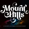 Mount Hills font