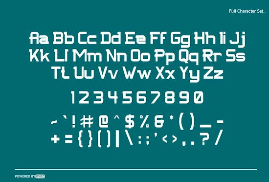 NFC FISSURE Typeface free