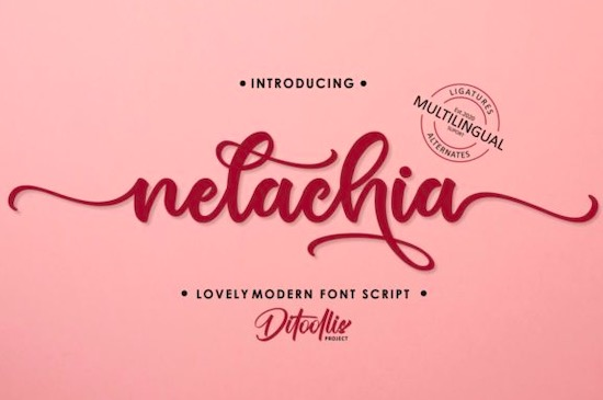 Nelachia font free download