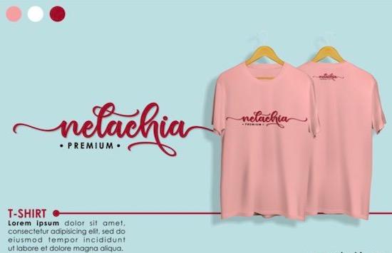Nelachia font free