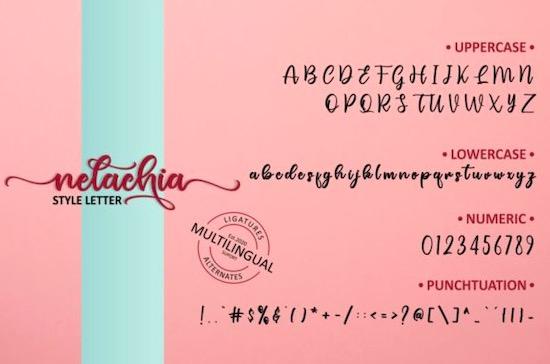 Nelachia font