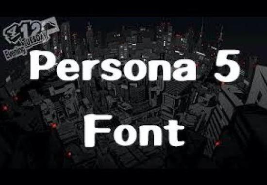 Persona 5 font