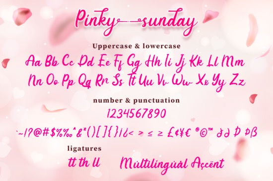 Pinky Sunday font download