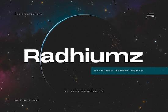 Radhiumz font free download