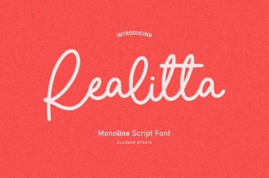 Realitta font free download