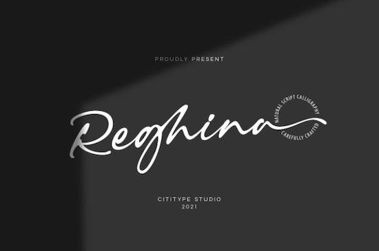 Reghina font free download