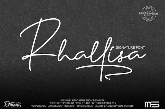Rhallisa font free download