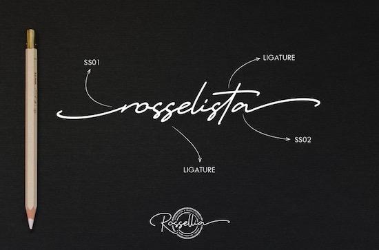 Rossellia font free