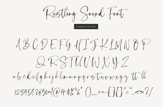 Rustling Sound font download
