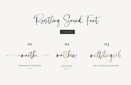 Rustling Sound font free