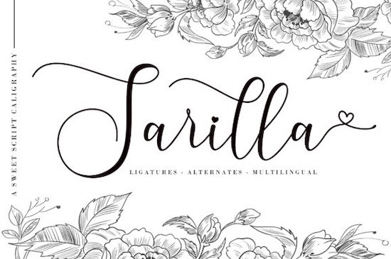 Sarilla font free download