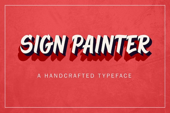 Sign Painter regular font