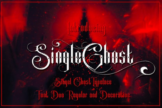 Single Ghost font free download