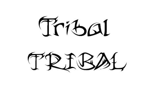 Tribal font download