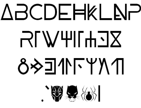 Wakanda font