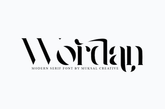 Wordan font