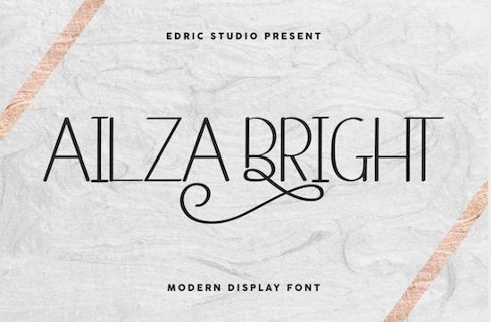 Ailza Bright font free download
