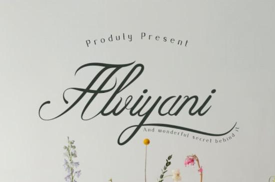 Alviyani font free download