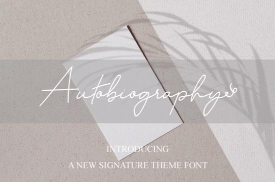 Autobiography font free download