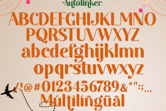 Autolinker font