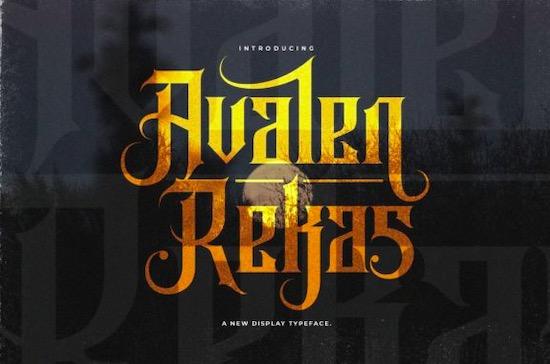 Avalen Rekas font free download