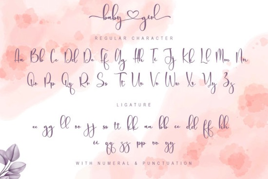 Baby Girl font free