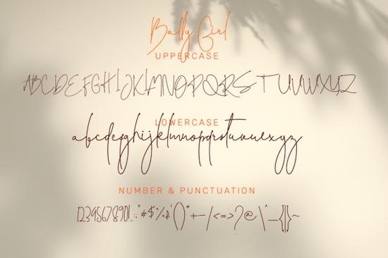Bally Girl font download
